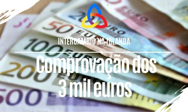 comprovação dos 3 mil euros